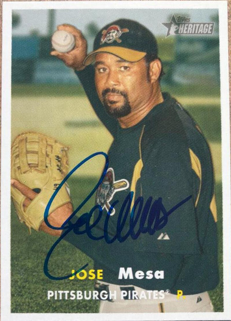 Jose Mesa Autographed 2006 Topps Heritage #258