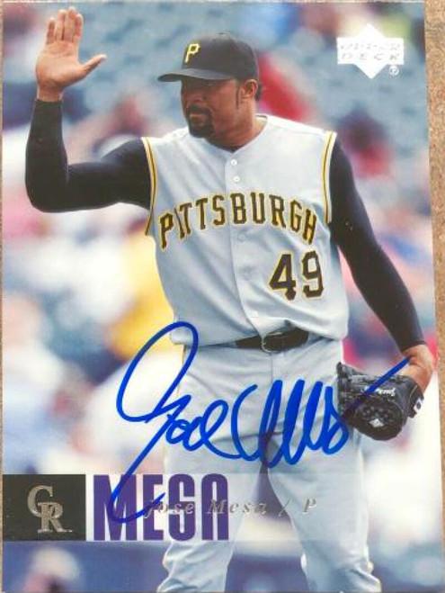 Jose Mesa Autographed 2006 Upper Deck #361