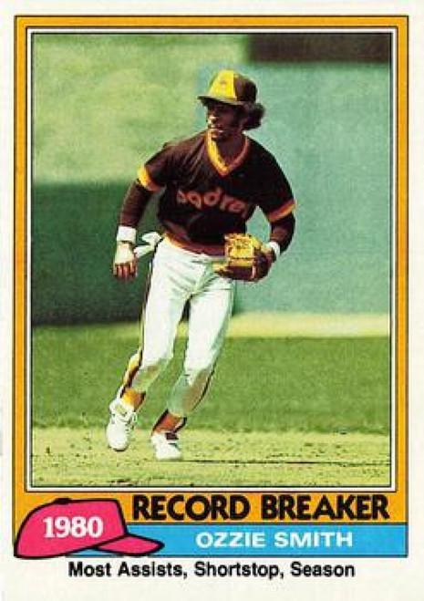 1981 Topps #207 Ozzie Smith RB VG San Diego Padres