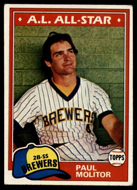 1981 Topps #300 Paul Molitor VG Milwaukee Brewers