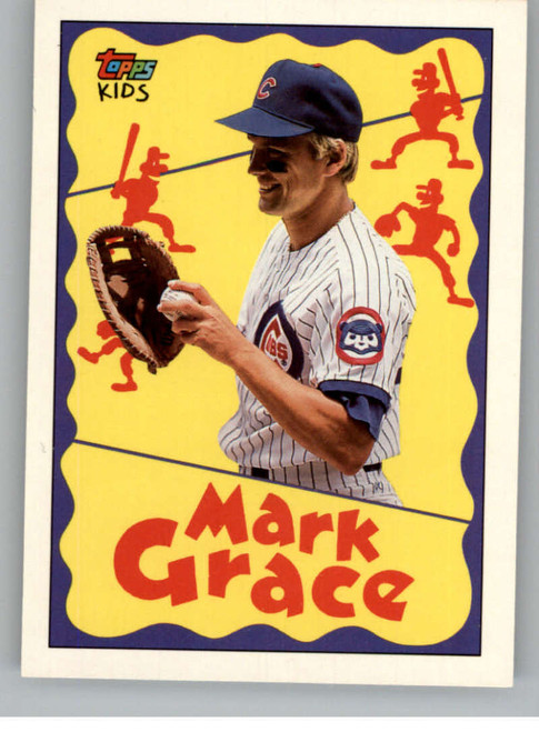 1992 Topps Kids #4 Mark Grace NM-MT Chicago Cubs