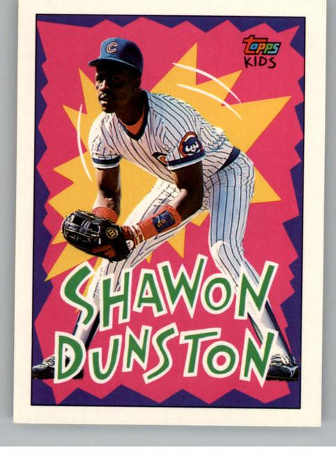 1992 Topps Kids #5 Shawon Dunston NM-MT Chicago Cubs