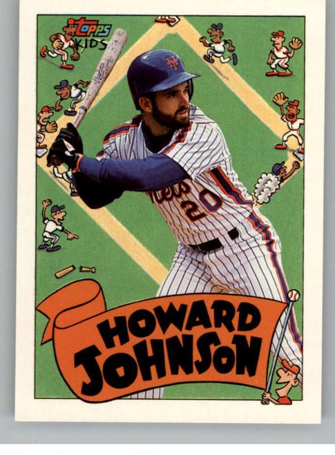 1992 Topps Kids #12 Howard Johnson NM-MT New York Mets