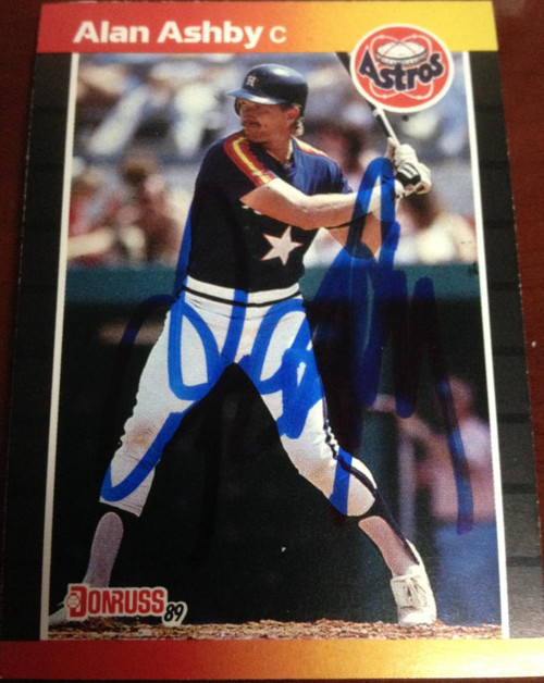 Alan Ashby Autographed 1989 Donruss #88