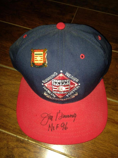 Jim Bunning Autographed 1996 Hall of Fame Induction Hat
