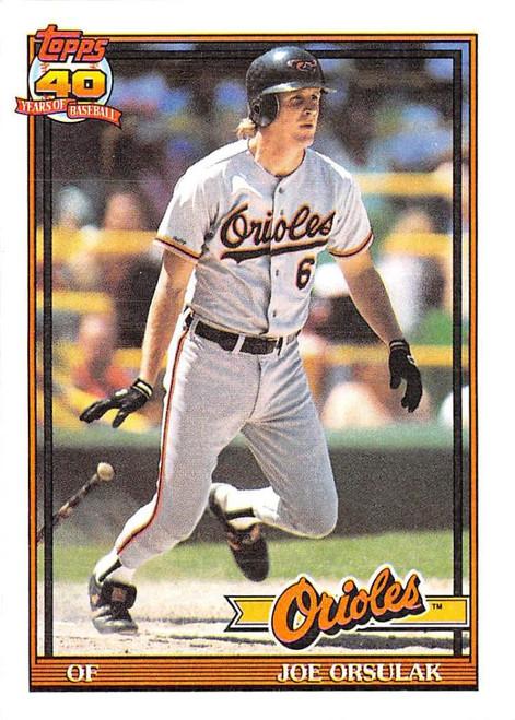 1991 Topps #521 Joe Orsulak VG Baltimore Orioles