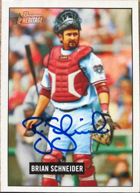 Brian Schneider Autographed 2005 Bowman Heritage #38