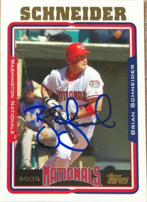 Brian Schneider Autographed 2005 Topps #449