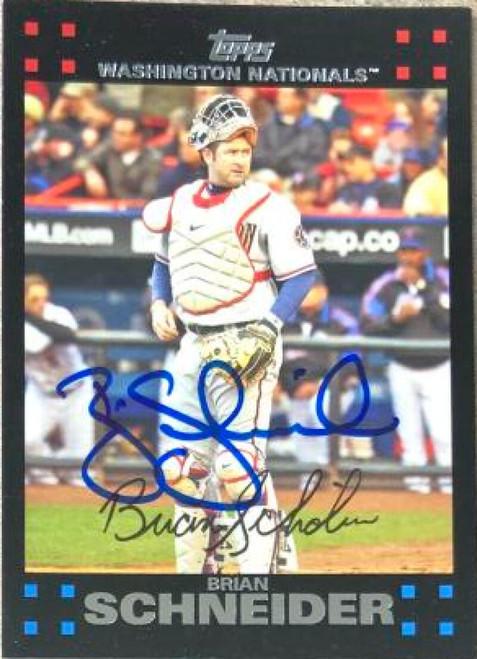 Brian Schneider Autographed 2007 Topps #214