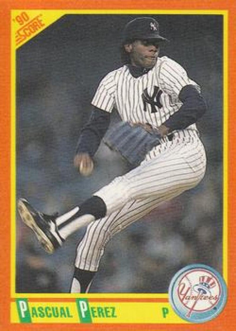 1990 Score Rookie and Traded #5T Pascual Perez NM-MT  New York Yankees