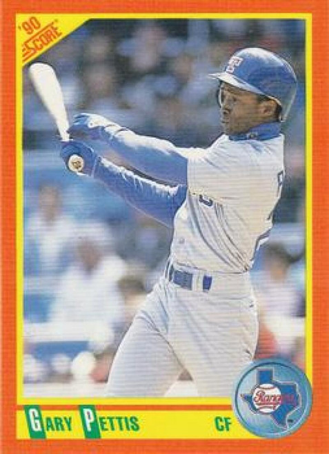 1990 Score Rookie and Traded #6T Gary Pettis NM-MT  Texas Rangers