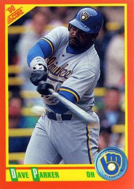 1990 Score Rookie and Traded #12T Dave Parker NM-MT  Milwaukee Brewers