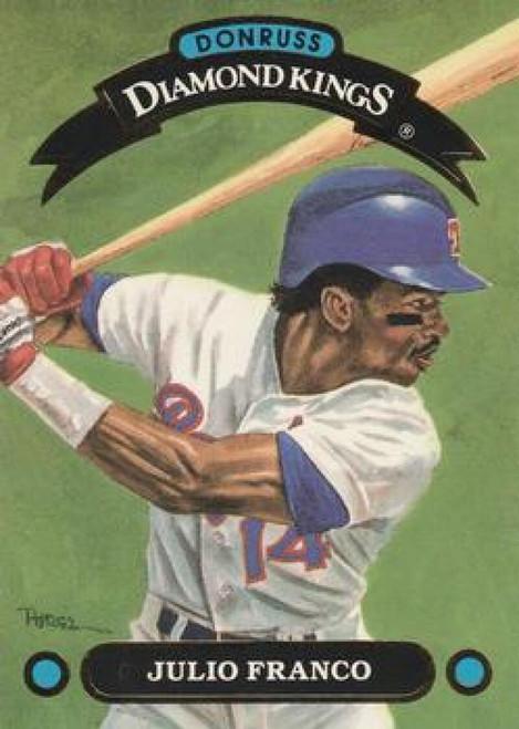 1992 Donruss Diamond Kings #DK4 Julio Franco NM-MT  Texas Rangers