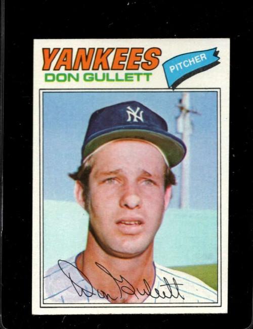 1977 Topps #15 Don Gullett VG New York Yankees