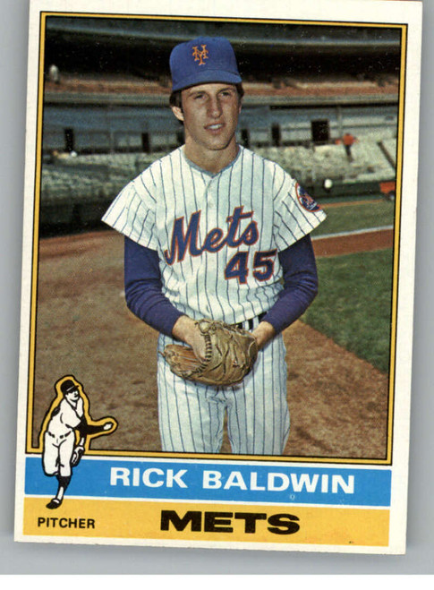 1976 Topps #372 Rick Baldwin VG RC Rookie New York Mets