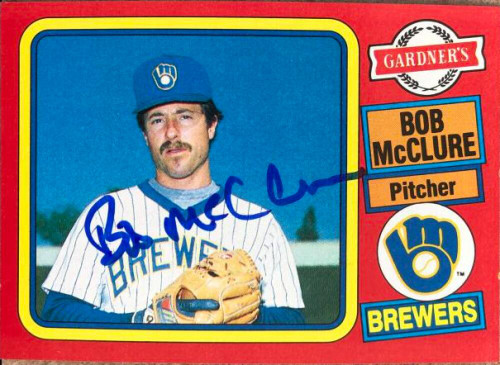 Bob McClure Autographed 1985 Topps Gardner's Bakery #12