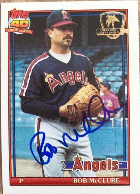 Bob McClure Autographed 1991 Topps Desert Shield #84