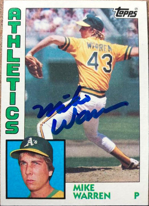 Mike Warren Autographed 1984 Topps #338 Rookie Card