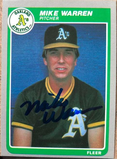 Mike Warren Autographed 1985 Fleer #435