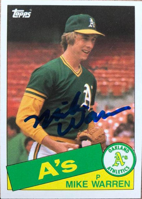 Mike Warren Autographed 1985 Topps #197