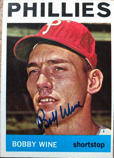 Bobby Wine Autographed 1964 Topps #347