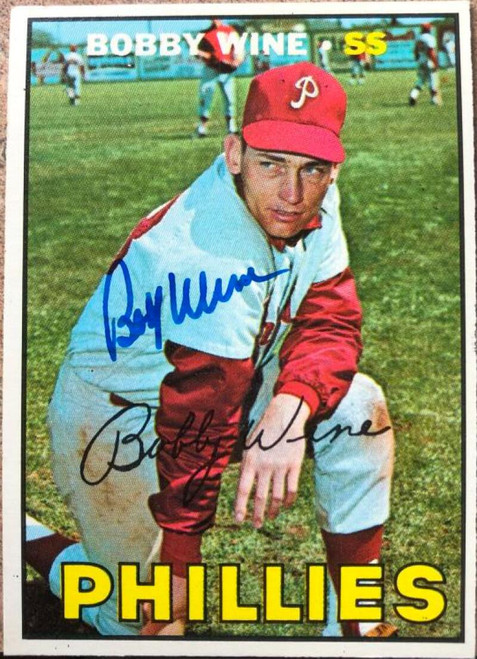 Bobby Wine Autographed 1967 Topps #466