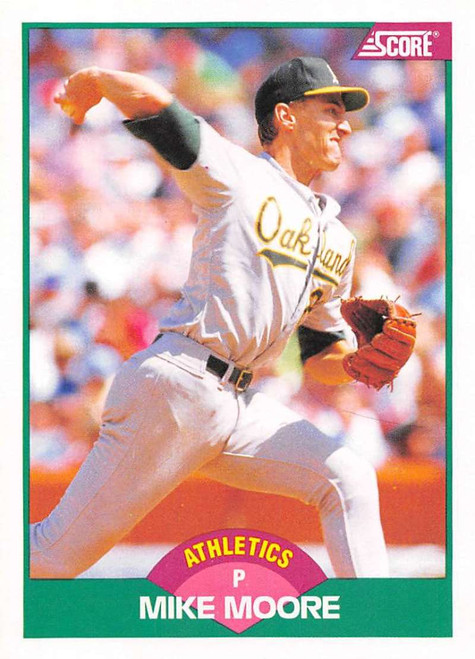 1989 Score Rookie/Traded #5T Mike Moore VG Oakland Athletics