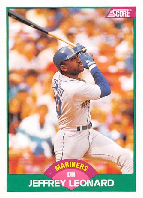1989 Score Rookie/Traded #7T Jeffrey Leonard VG Seattle Mariners