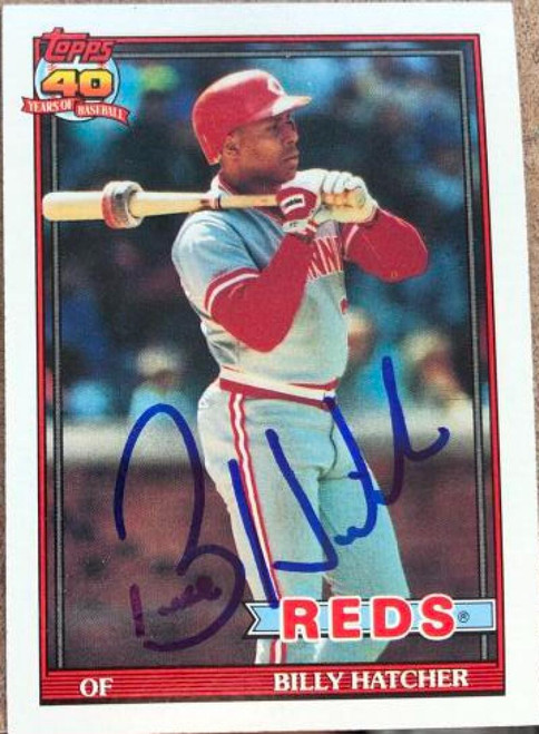 Billy Hatcher Autographed 1991 Topps #604
