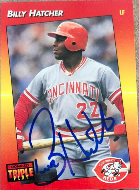 Billy Hatcher Autographed 1992 Triple Play #222