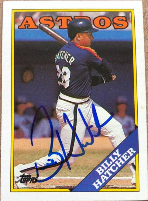 Billy Hatcher Autographed 1988 Topps #306