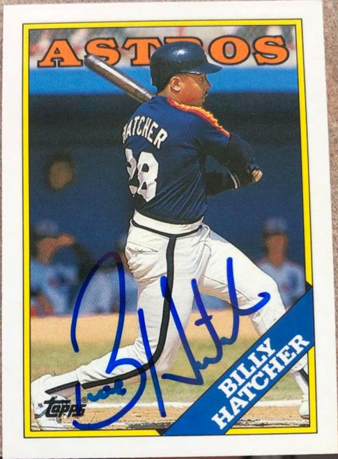 Billy Hatcher Autographed 1988 Topps Tiffany #306