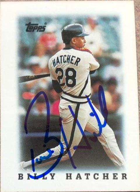 Billy Hatcher Autographed 1988 Topps Major League Leaders Minis #306