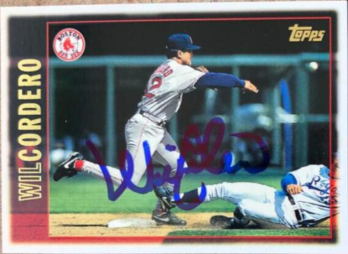 Wil Cordero Autographed 1997 Topps #394