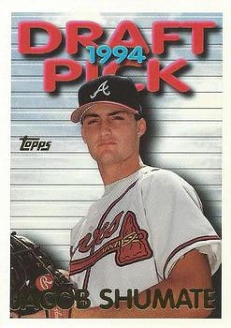 1995 Topps #6 Jacob Shumate VG  Atlanta Braves