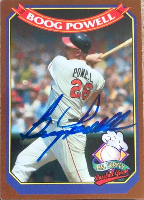 Boog Powell Autographed 1995 Mr. Turkey Baseball Greats #4