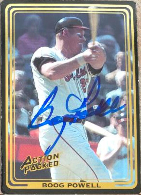 Boog Powell Autographed 1992 Action Packed #80