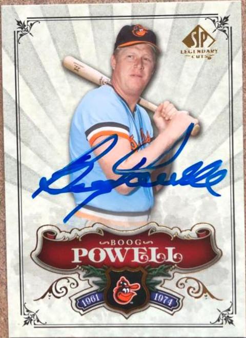 Boog Powell Autographed 2006 SP Legendary Cuts #18