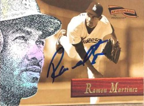 Ramon Martinez Autographed 1996 Pinnacle Aficionado #93