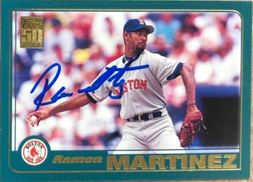 Ramon Martinez Autographed 2001 Topps #690