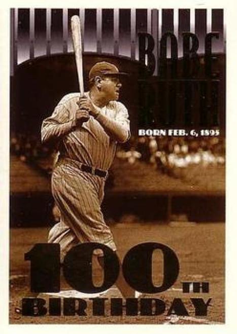 1995 Topps #3a Babe Ruth ERR 100th Birthday VG  New York Yankees