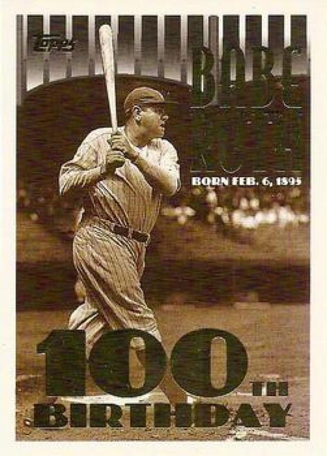 1995 Topps #3b Babe Ruth COR VG  New York Yankees
