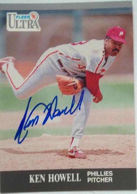 SOLD 4087 Ken Howell Autographed 1991 Fleer Ultra #265