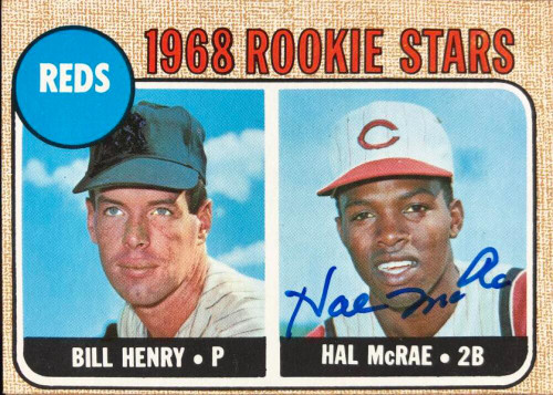 Hal McRae Autographed 1968 Topps #384
