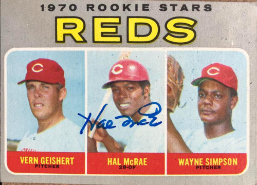 Hal McRae Autographed 1970 Topps #683