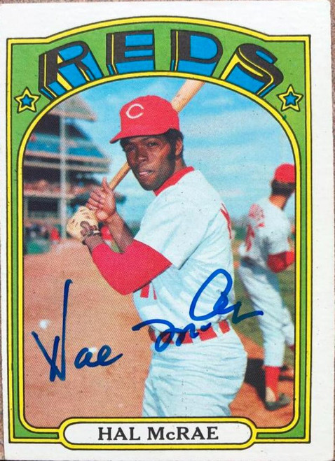 Hal McRae Autographed 1972 Topps #291