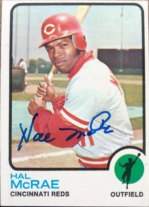 Hal McRae Autographed 1973 Topps #28