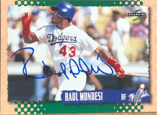 Raul Mondesi Autographed 1995 Score #233