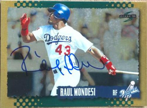 Raul Mondesi Autographed 1995 Score Gold Rush #233