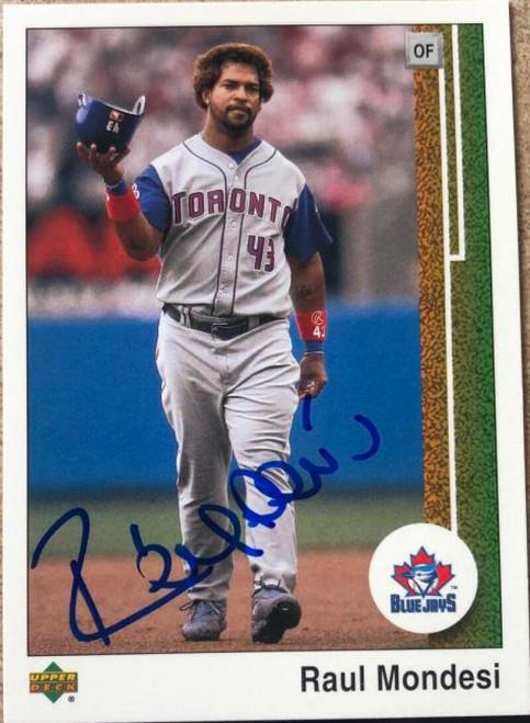SOLD 118443 Raul Mondesi Autographed 2002 UD Authentics #17